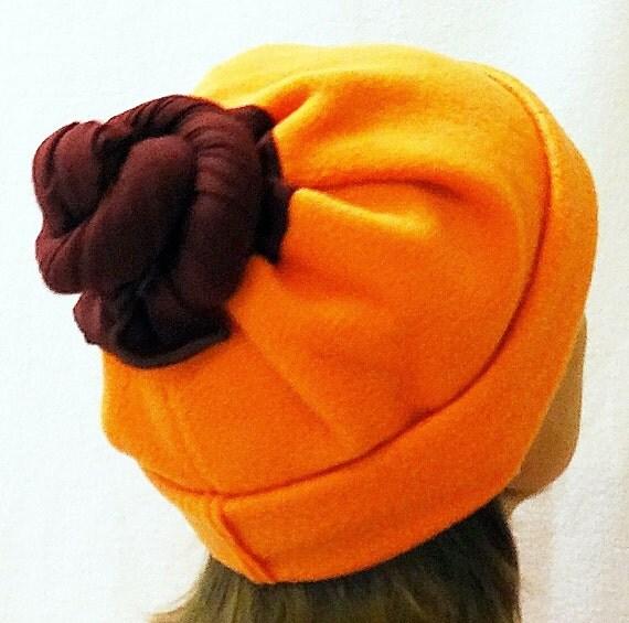 Multi-Hat Tube Balaclava Scarf All-In-One Orange Maroon  Buff