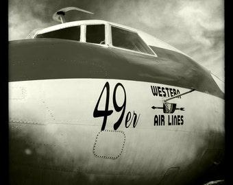 """Vintage World War II Airplane, Aviation Photo, 10""""x10"""" Photograph, Vintage Airplane, Vintage Aircraft, Airplane Decor"""