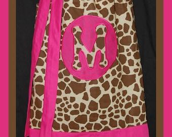 Giraffe Dress w/ Initial
