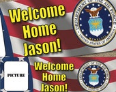 PRINTED PHOTO BANNER 2x6 Military Personalized / Welcome Home / Customizable / #WelcomeHome #Military #Deployment #Flag
