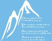 """Led Zepplin """"Thank You"""" lyrics decal"""