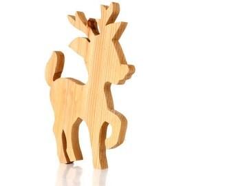 Vintage Rudolf the Red Nosed Reindeer Wood Craft