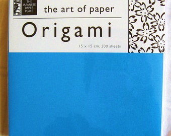 6 inch origami paper - 200 sheets of mixed solid colors of origami paper