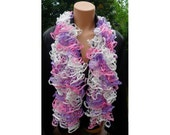 SALE FLAMENCO SCARF White, Pink & Lilac shades Boa CanCan Loopy 22217 Made by Order