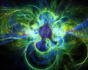 Clean energy fractal artwork digital download, original home / interior decoration