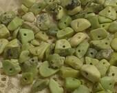 Light Green Serpentine Chip Bead Natural Stone