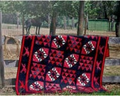 Red Horse Running Quilt Kit READY to SHIP Pattern Included Coupon Code HORSE20