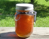 Golden Comb Honey Raw Unfiltered Raw Tennessee Wildflower 21oz Glass Mason Jar Wedding Favor Housewarming Gift