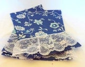 Handmade Vintage Cotton Retro Guest  Hand Towels Set of 2