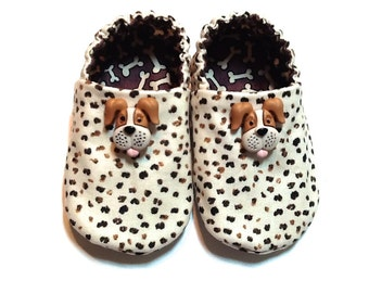 Dog Baby Boy Shoes, 0-6 mos. Baby Booties, Baby Gift