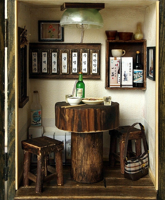 Vintage pub house n0 2country small bar handmade by dollhouseara - Small bars for your home ...