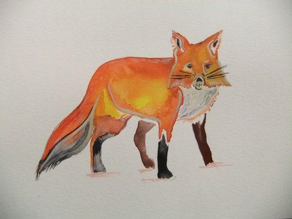 Fox-Original Watercolor Painting