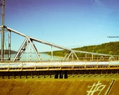 Bridge in Tennessee During Sunny Summer Day Lomography Print 5x7