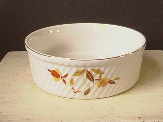 Hall S Superior Kitchenware Autumn Leaf Souffle French By
