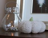 Crochet Light Gray Pumpkin