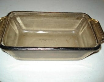 Vintage Glass Loaf Dish, Serving Dish, Glassware,1.5 Quart