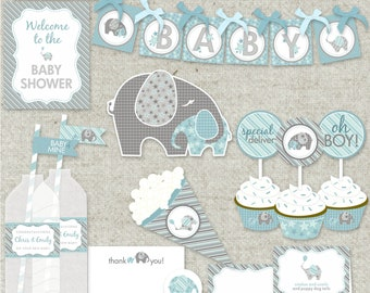 "Boy Baby Shower Printable PDF Party - ""Baby of Mine"" Collection"