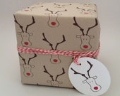As seen on CountryLiving.com - Stocking Stuffer Gift Wrap, Striped Wrapping Paper, Reindeer Wrapping Paper, Snowflake Wrapping Paper