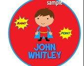 DIY iron on transfer - personalized Superboy superhero