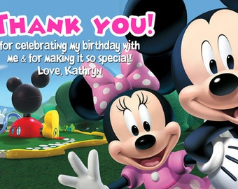 Mickey Mouse Clubhouse Thank You Card Digital File
