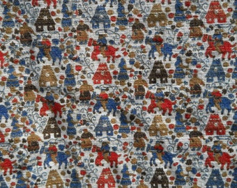 1940's Egyptian Print Barkcloth - Min Order: 2 Yds