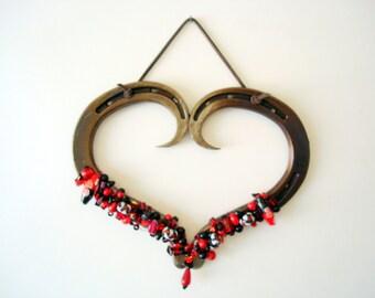 Horseshoe  Heart made from horseshoes