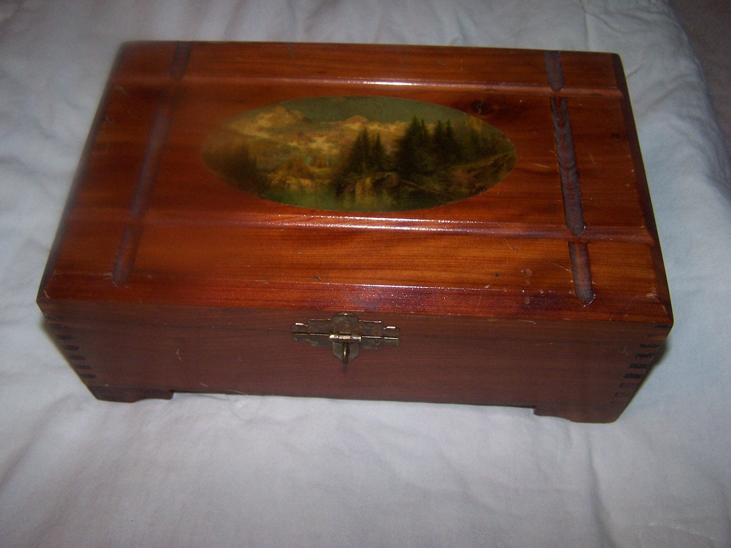 Vintage Wooden Candy Box Old Box For Trinkets Or By