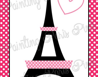 "Love In Paris Party Game - Summer In Paris Collection - 20"" x 30"""