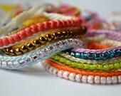 Custom Beaded Crochet Friendship Bracelet