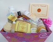Bath and body gift set - all natural bath gift basket - spa gift set - body wash gift - soap gift - deodorant gift - body oil gift