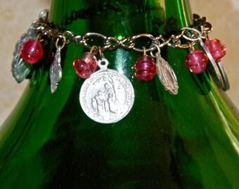 Vintage religious charm bracelet.