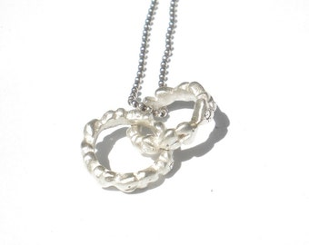 Linked Love Sterling Silver and Diamond Necklace