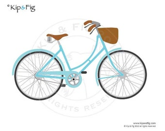 Ladies vintage bicycle PDF template - applique pattern design - 40s style BSA Pashley