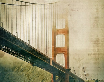 16x20 Golden Gate Bridge Canvas Textured Fine Art Print Photograph Wall Decor