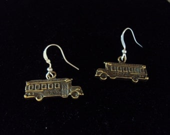 Cute school bus earrings
