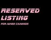 custom listing for aimee