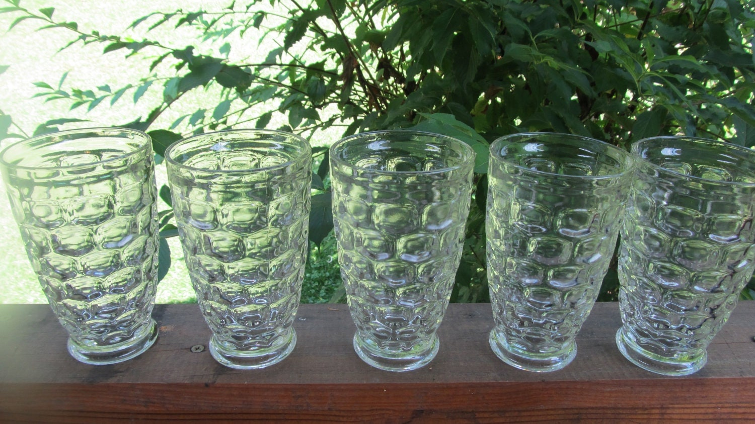 Vintage glasses with bubble inside