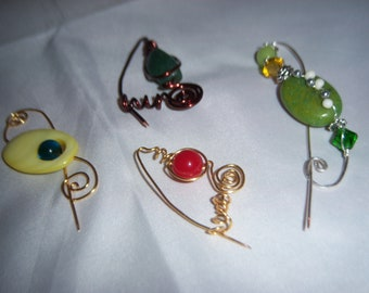 Assorted Jewelry Pins, Gift Ideas, Copper Pins, Friendship Pins, Fashion pins