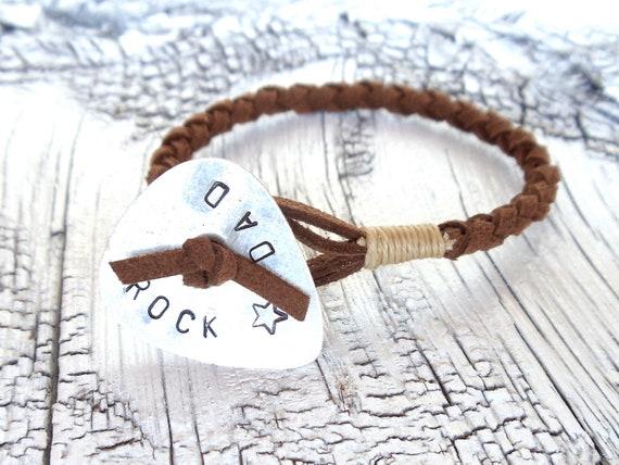 rock star dad bracelet // guitar pick jewelry for him