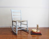 RESERVED for Jessica: 19th Century Blue Child's Rocker. Handcrafted Primitive Furniture.