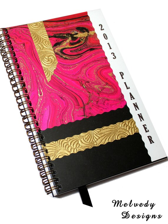 Hot Pink Planner 2013 Calendar Fashion Agenda