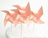 Light Pink/ Peach Colored Pinwheels