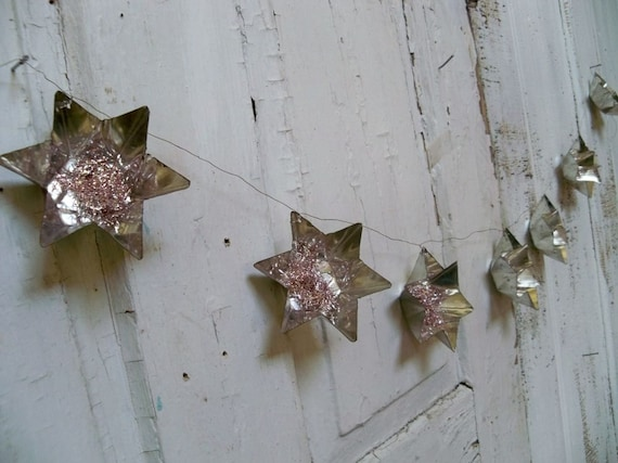 Christmas Metal Star Garland Hand Made Vintage By