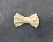 Striped bow tie / white & yellow bow tie for men or women / wedding