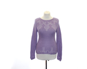 """Jumper  """"Lilac"""" / women sweater / sweaters knitted / texture sweater/ OOAK"""
