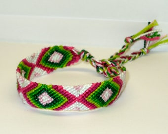 Friendship Bracelet - Diamond - summer - watermelon