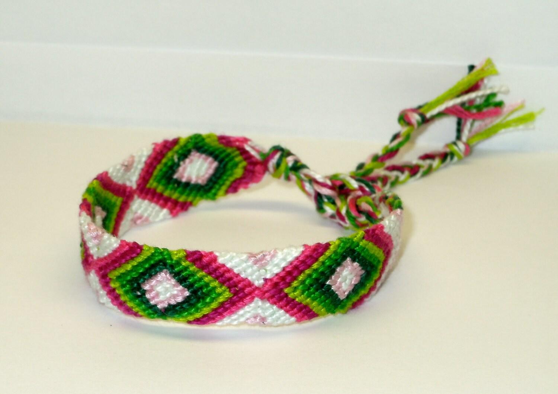 friendship bracelet diamond summer watermelon. Black Bedroom Furniture Sets. Home Design Ideas