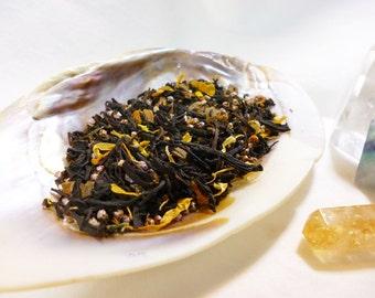Tea Sample - Fall Court - Pumpkin vanilla and cinnamon black loose leaf tea