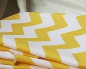 Cloth Chevron Napkins in Yellow by Riley Blake