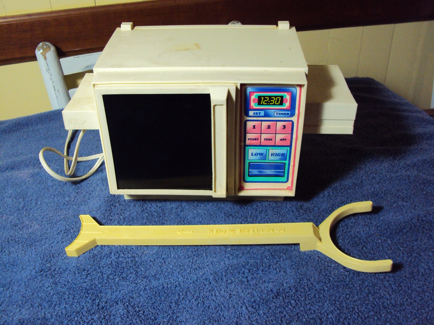 vintage easy bake oven with original insertion stick microwave